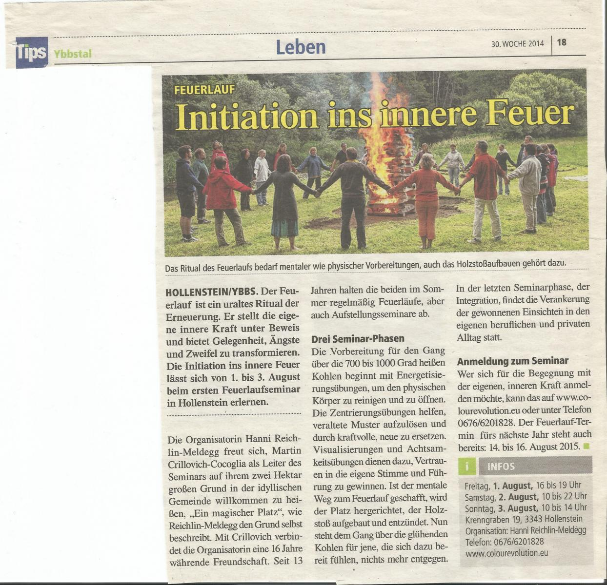 Initiation ins innere Feuer
